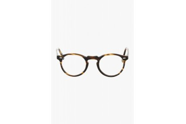 Oliver Peoples Brown And Gold Tortoiseshell Gregory Peck Glasses