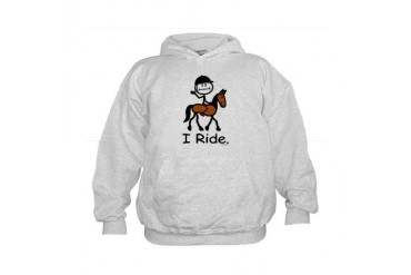 English Horse Riding Kids Hoodie
