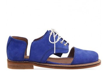 Minimarket Flat Lace Up Cut Out in Blue size 10.0
