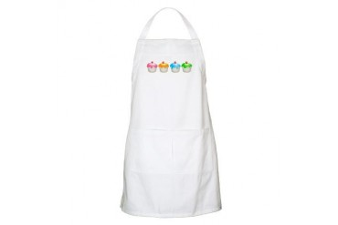 Cupcakes BBQ Food Apron by CafePress