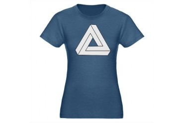 Impossible Triangle Organic Women's Fitted T-Shirt Cool Organic Women's Fitted T-Shirt dark by CafePress