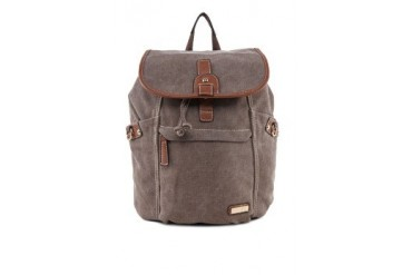 Unisa PU Trimmed Canvas Backpack