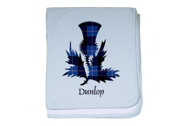 Thistle - Dunlop Scottish baby blanket by CafePress