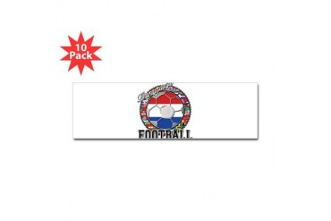 Paraguay Flag World Cup Football Ball with World F Flag Sticker Bumper 10 pk by CafePress