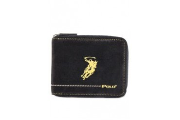 Polo Zippered Leather Wallet