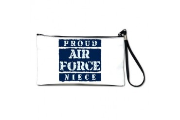 Proud Air Force Niece Air force Clutch Bag by CafePress