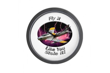 F-86 Sabre Hobbies Wall Clock by CafePress