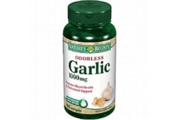 Nature s Bounty Odorless Garlic 1000 mg Dietary Supplement Softgels
