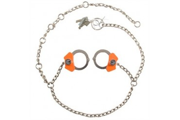 High Security Cuffs - Model 7002 Separated Cuffs - Nickel Finish