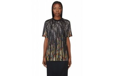 Givenchy Black Sequin Print T shirt