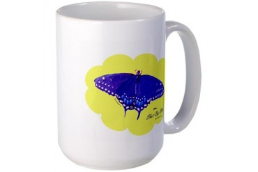 Blue Butterfly Peace Large Mug by CafePress