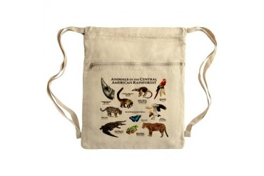 Central American Rainforest Sack Pack Art Cinch Sack by CafePress