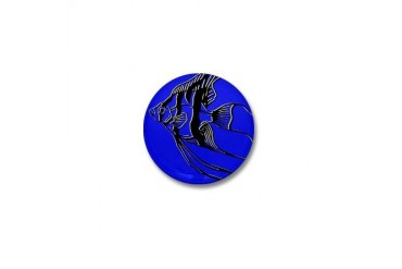 OYOOS Blue Fish design Pets Mini Button by CafePress