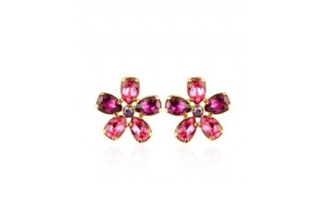 Flower Gold Plated Clip-On Earrings