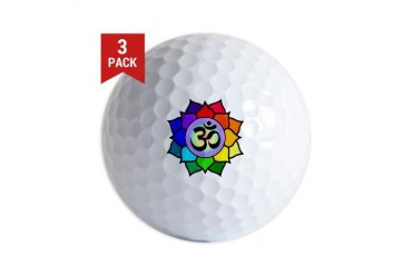 Rainbow Om Gay pride Golf Balls by CafePress