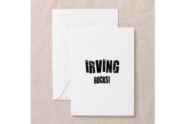 Irving Rocks Texas Greeting Card by CafePress