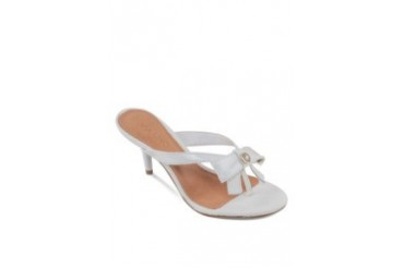 Via Uno by Shoeville Slip On Heels with Bow