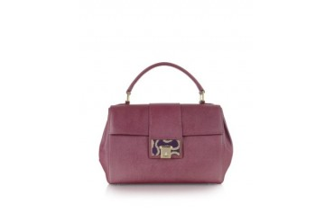 Burgundy Opio Saffiano Leather Office Satchel