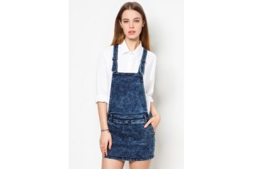 EZRA by ZALORA Dungaree Dress