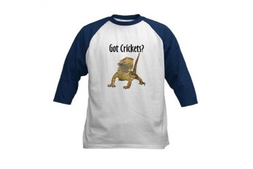 Blue Sleeve Bearded Dragon Kids Baseball Jersey
