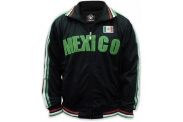 International World Cup Track Jackets  Mexico Soccer Jacket (Black)