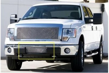 T-Rex Grilles Upper Class; Mesh Bumper Grille Bolt-On Insert 55569 Bumper Valance Grille Inserts