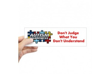 CafePress Autism Awareness Bumper Bumper Bumper Sticker