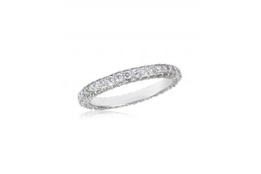 1.59 ctw Diamond 18K White Gold Eternity Band