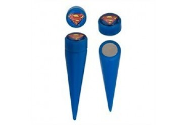 DC Comics Superman Logo Acrylic Faux Taper Magnetic Earrings
