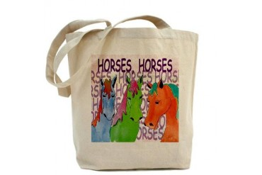 Horse Horses Tote Bag by CafePress