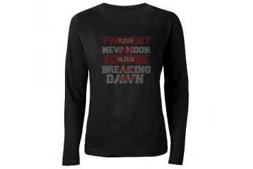 Twilight Saga Movie Dates Women's Long Sleeve Dark