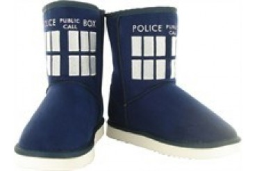 Doctor Who TARDIS Boot Slippers