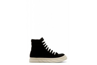 D.gnak By Kang.d Black Boucl High top Sneakers