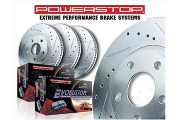 Power Stop Front and Rear Brake Kit  K2220 Replacement Brake Pad and Rotor Kit