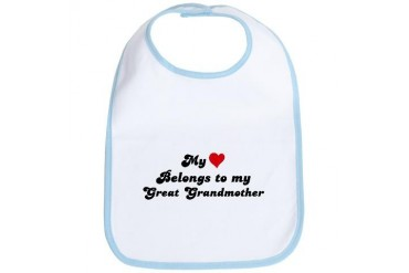 My Heart: Great Grandmother Family Bib by CafePress