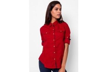 Heath Longsleeve Woven Shirt Solid Colour
