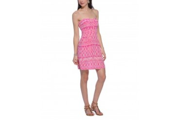 Charlie Jade 'Ginger' Silk Dress Pink, L