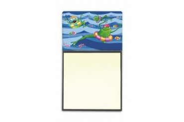 Frogs Swimming Sticky Note Holder