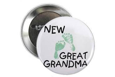 New Great Grandma green Button New baby 2.25 Button by CafePress