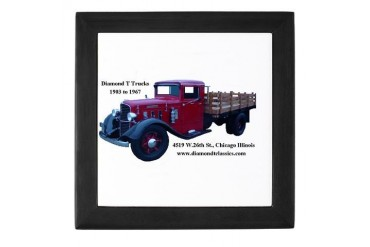 Diamond T Trucks 1905 to 1967 Support Keepsake Box by CafePress
