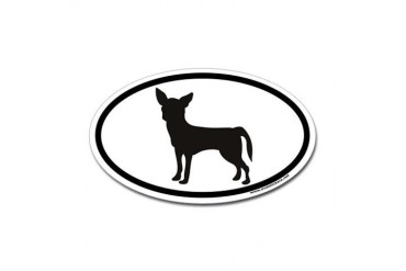 Chihuahua Euro Oval Sticker Pets Sticker Oval by CafePress