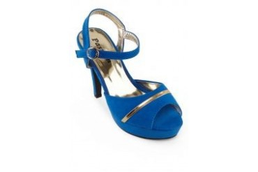Passion Seude Ankle Straped Heels with Applique Piping
