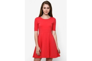 Chic Simple S/S Flare Dress