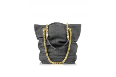 Andrea Anthracite Suede Bucket Bag
