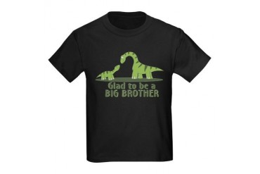 Glad to be a Big Brother Kids Dark T-Shirt
