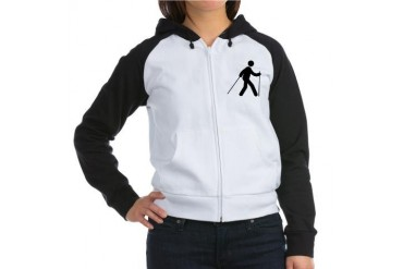 Nordic Walking Humor Women's Raglan Hoodie by CafePress