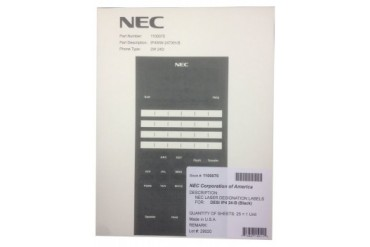 NEC Telephone Systems 1100070 SL1100 24 Button Labels 25 Pack Black