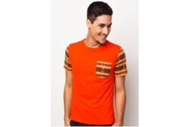 Neverland T-shirt with Contrast Sleeves & Pocket