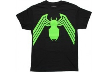 Marvel Comics Venom Green Logo Black T-Shirt