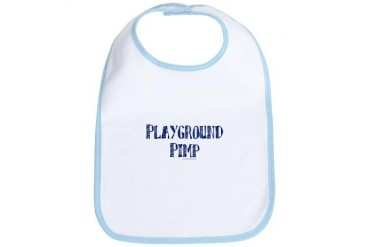 Playground Pimp Funny Bib by CafePress